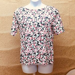 Charter Club Women's Floral Print Boat Neck Top
